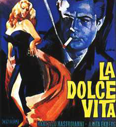 "Fellini celebrated ""La Dolce Vita"" in his film classic.  Today, Italians may feel as though they're living in a Fellini flick. [Credit: theworld.org]"