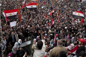 Protesters crowded Tahrir Square in Cairo earlier this month to call for their President's ouster.  The military obliged them. [Credit: Washington Times]