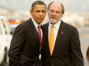 President Obama unsuccessfully campaigned for Jon Corzine.  Since then, nearly $1 billion in client money disappeared into the ether in a firm Corzine steered into bankruptcy.