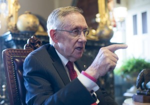 Harry Reid has embraced the pain of sequestration in his proposal to extend jobless benefits. But does it address the problem? [Credit: Roll Call]