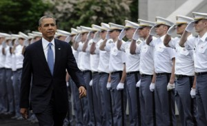 "President Obama this week urged graduating West Point cadets to ""see the world as it is."" But does he see it all that clearly? [Credit: NY Daily News]"