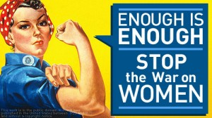 "The latest skirmish in the ""war on women"" took place this past week in the Senate.  [Credit: ACLU]"